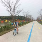 On the last day, we biked through several miles of colorful pinwheels!