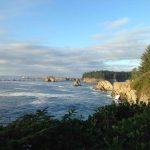 Looking north along the Oregon coast