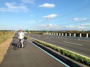 Typical bike lane