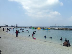 A beach full of locals