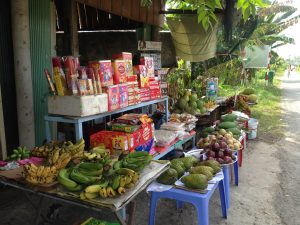 A typical fruit stand