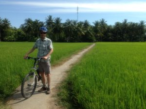 Through rice paddies