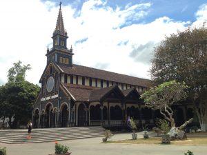 A Catholic wooden church