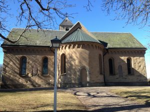 Heda church - see the runestones?
