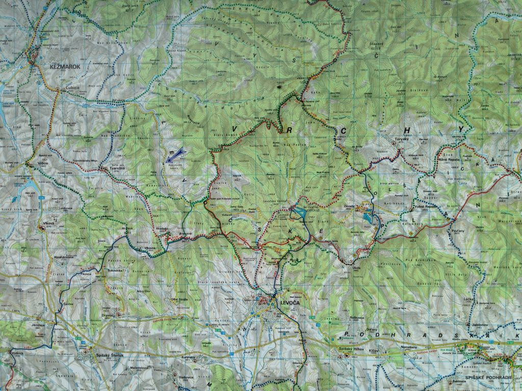 One of dozens of amazing cycling maps posted everywhere!