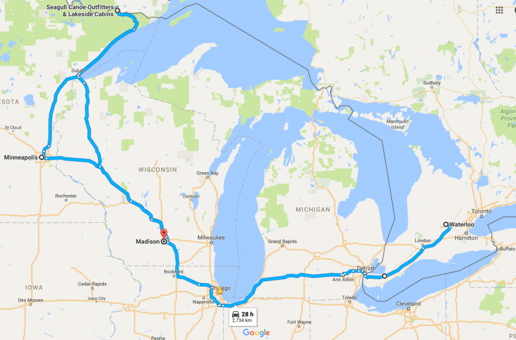 In case you're trying to follow our itinerary - 28 hours of driving to piece it all together!