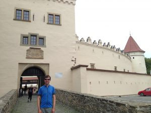 Michael at the castle