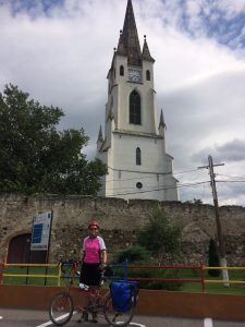Andrea with the Garbova church