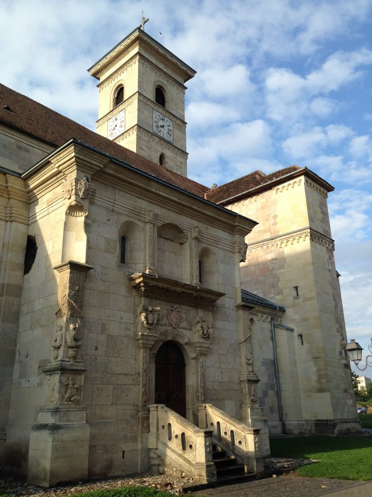 The 12th century Gothic cathedral in Alba Iulia