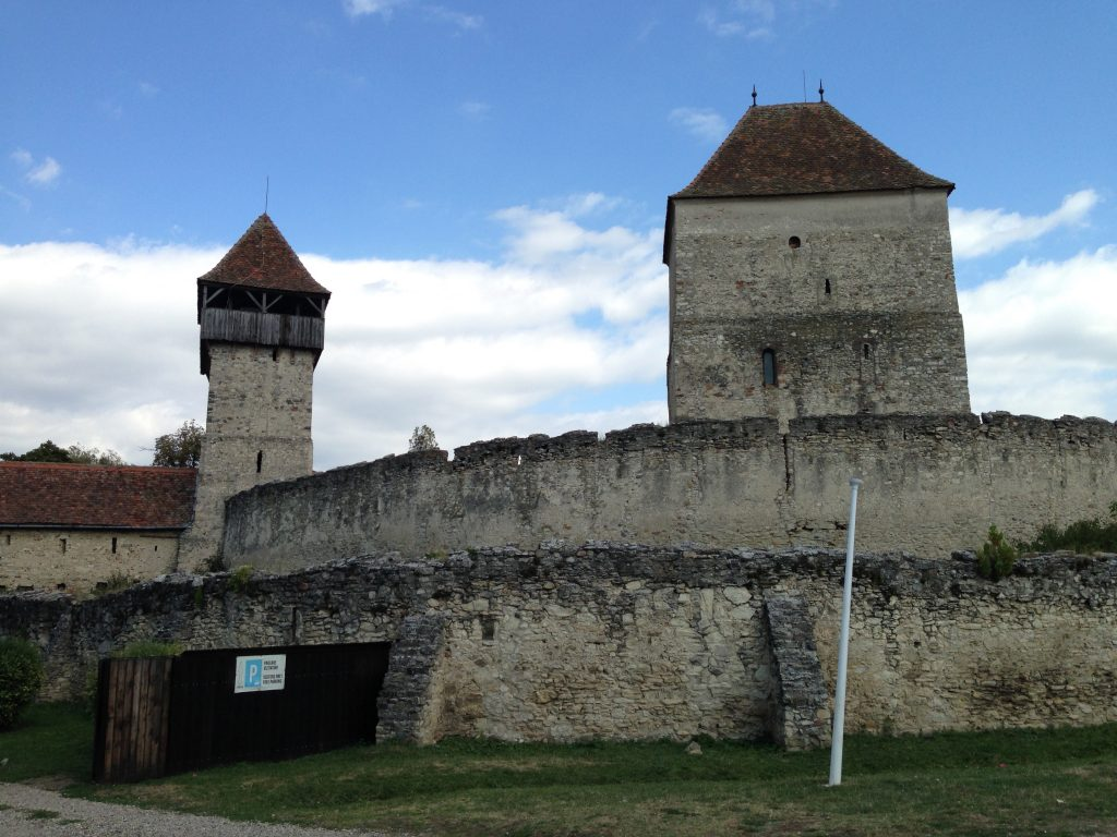 The first fortified church we visited, and a UNESCO world heritage site, in Câlnic.