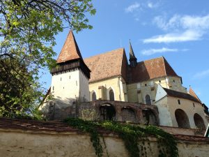 The most elaborate of the fortified churches, in Biertan.
