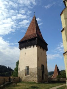 A tower in Biertan