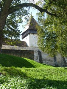 The fortified church in Hosman