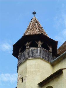 An extra turret in Biertan