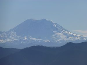... for a great view of Rainier!