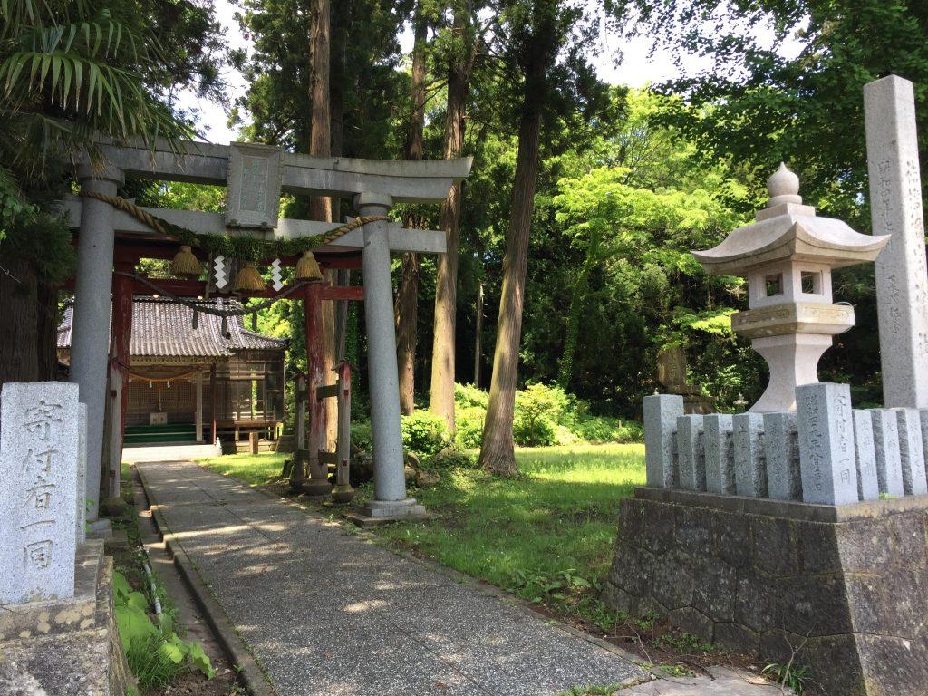 ... which led to an island shrine ...