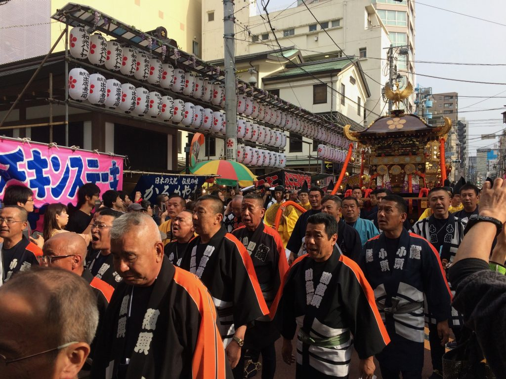 The annual festival at Yushima Tenjin shrine